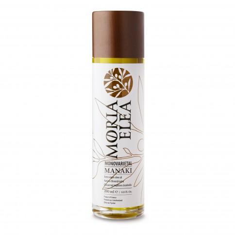 Huile d'olive monovariétale Manaki 200ml Olive Vision vue de face
