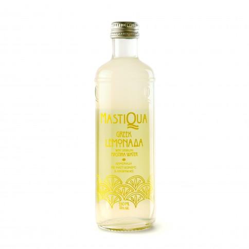 Λεμονάδα Mastiqua, ανθρακούχο νερό με μαστίχα και λεμόνι 330ml MASTIQUA μπροστινή όψη