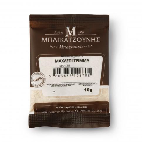 Paquet de mahlep grec moulu 10g, vu de face