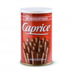 Κουτί μπισκότων γεμάτο με πουράκια φουντουκιού Caprice πρόσοψη, 115γρ