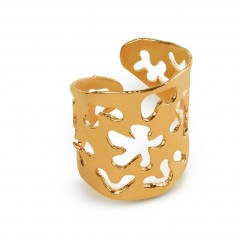 Ring Rhodes gold plated