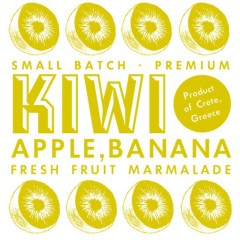 Jam of kiwi, apple and Cretan banana 220g Arodama logo