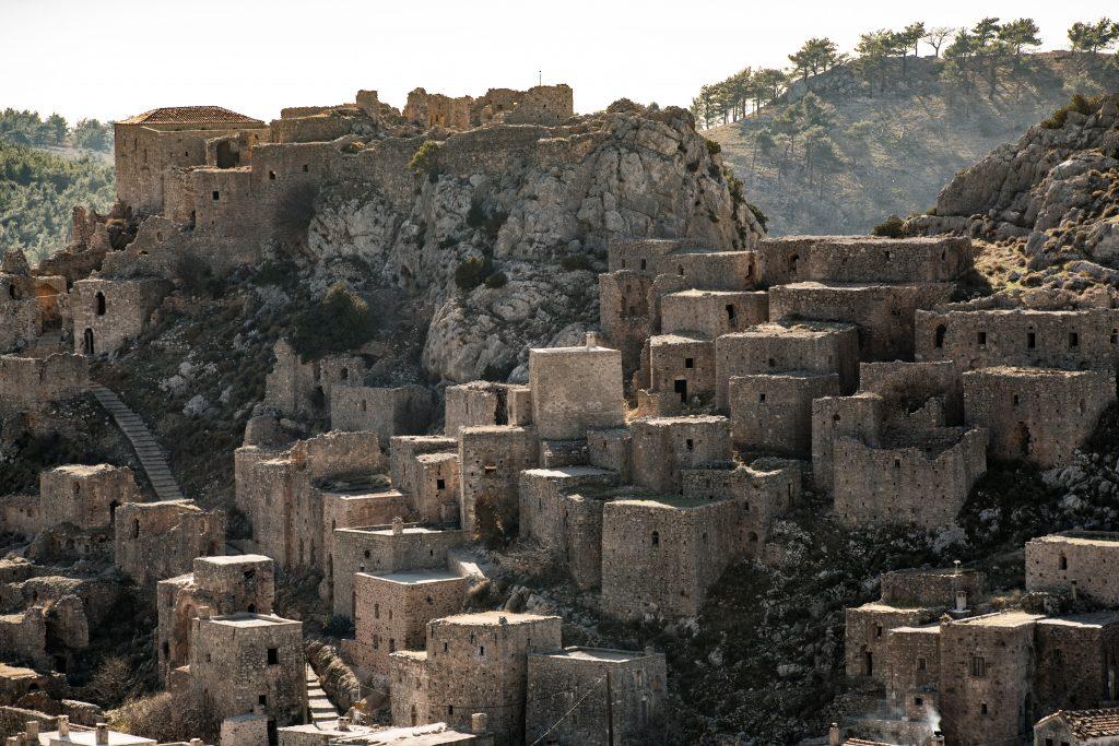 Anavatos village in Chios island