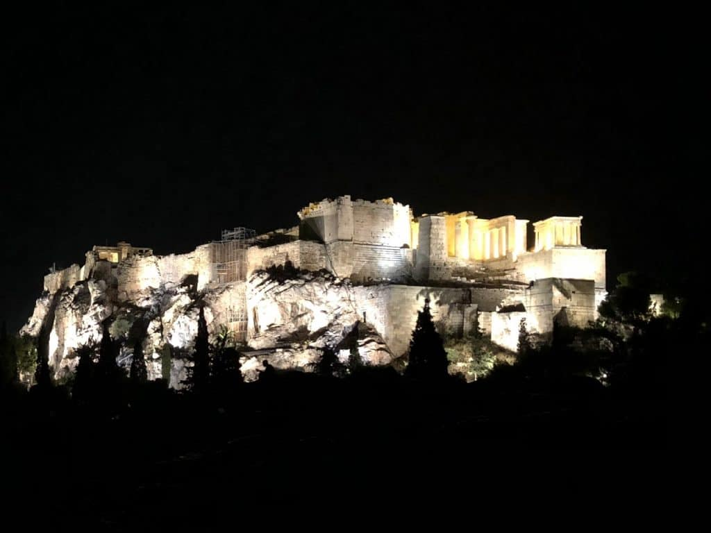 Acropolis seen by night, Athens
