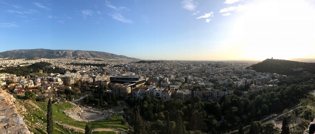 Panorama of the city seen from Acropolis