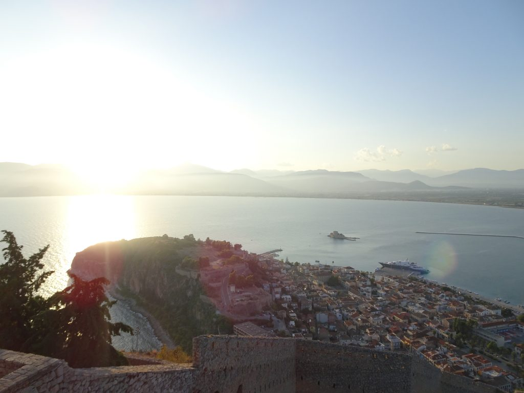 Sunset in Palamidi in Nafplio