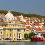 La ville de Mytilène sur l'île de Lesbos