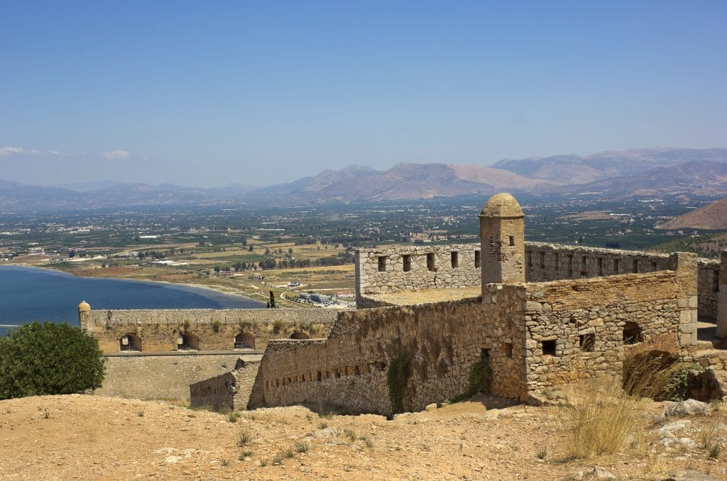 Palamidi fortress in Nafplio, Greece