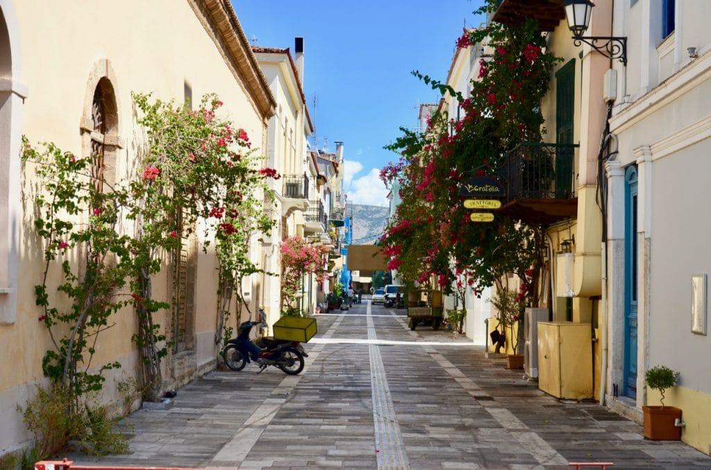 A characteristic street in Nafplio, Argolis