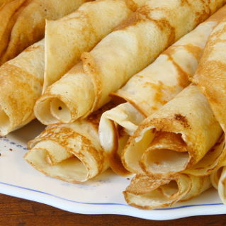 Easy french crepes dough