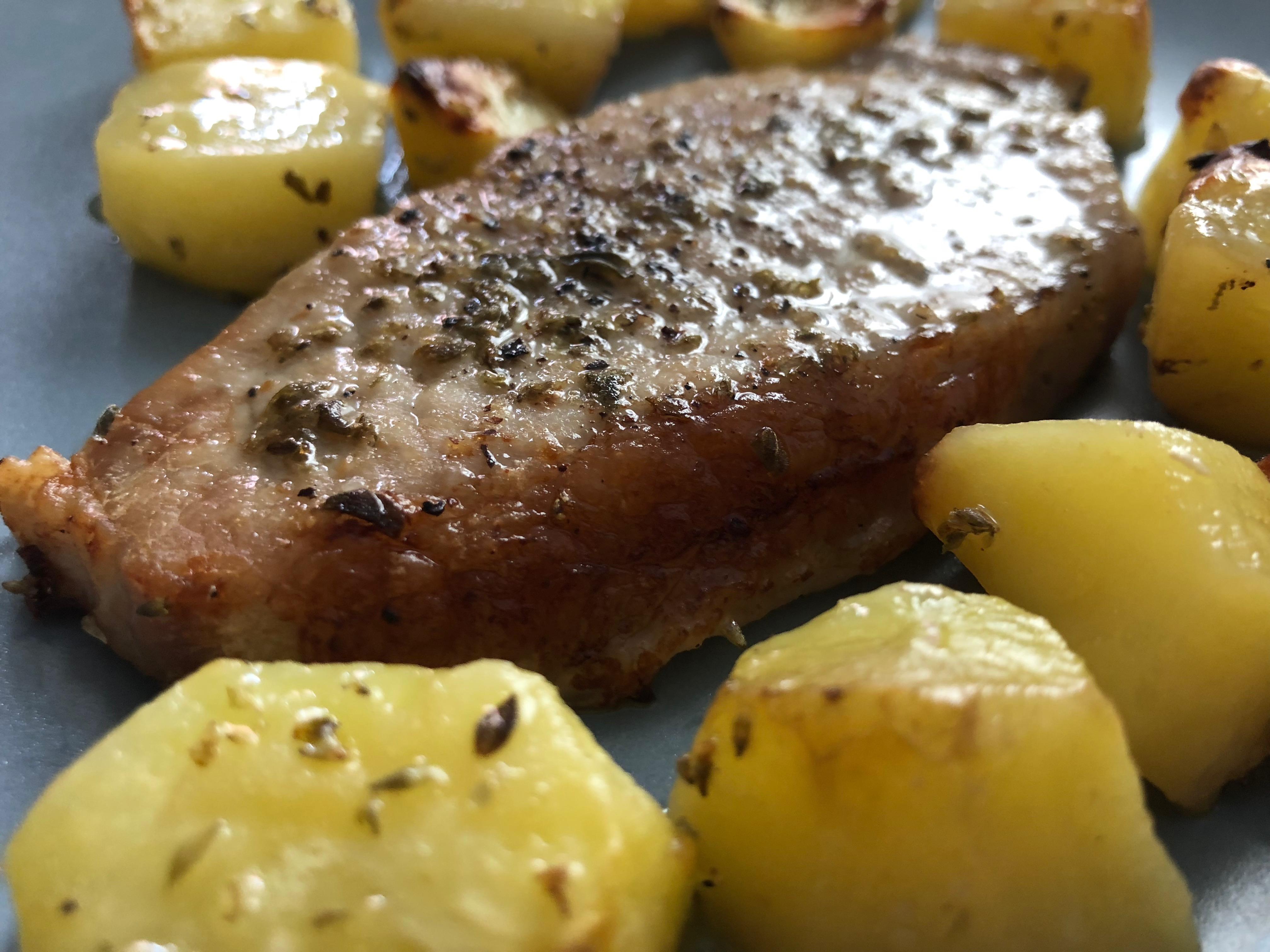 Brizoles sto fourno or Steaks in the oven