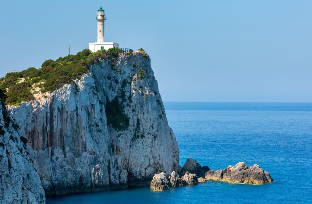 Le cap Lefkata d'où Sappho s'est jetée dans la mer