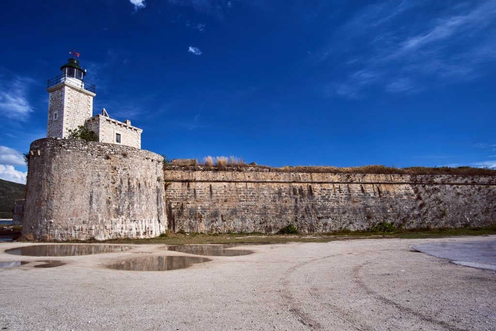 Le château fort d'Aghia Mavra à l'entrée de Leucade