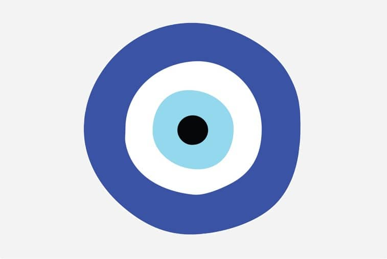 Greek eye, symbol very present in Greece and Aegean protecting the wearer