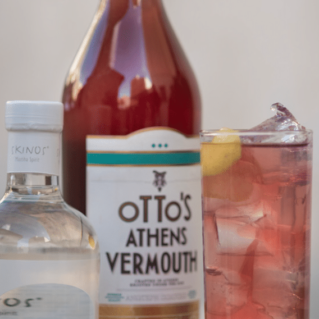 Otto's Sparkler with Otto's Athens Vermouth and Skinos