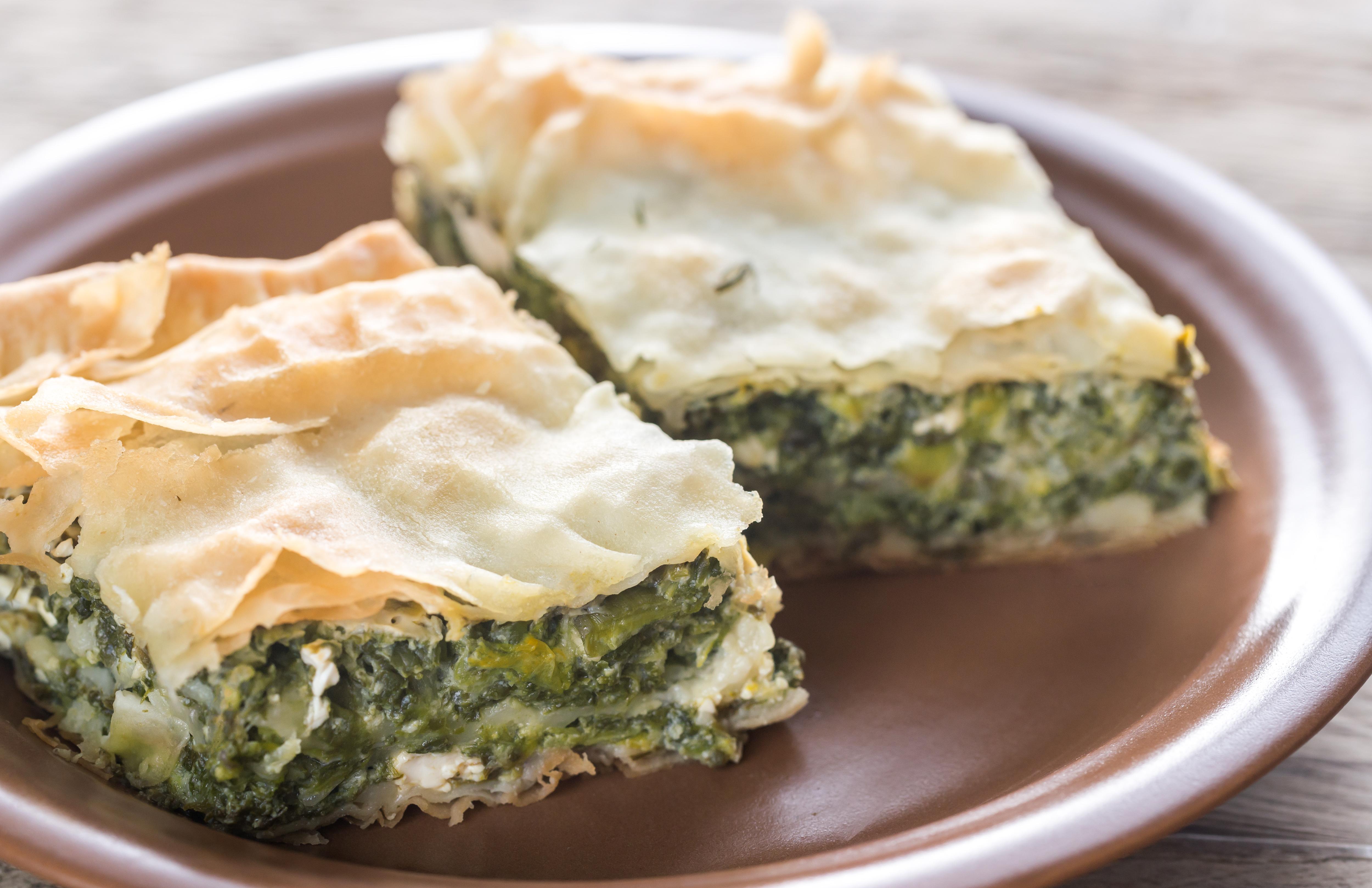 Spanakopita or spinach pie