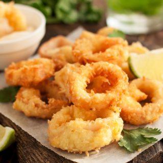 Calamars frits avec du citron recette