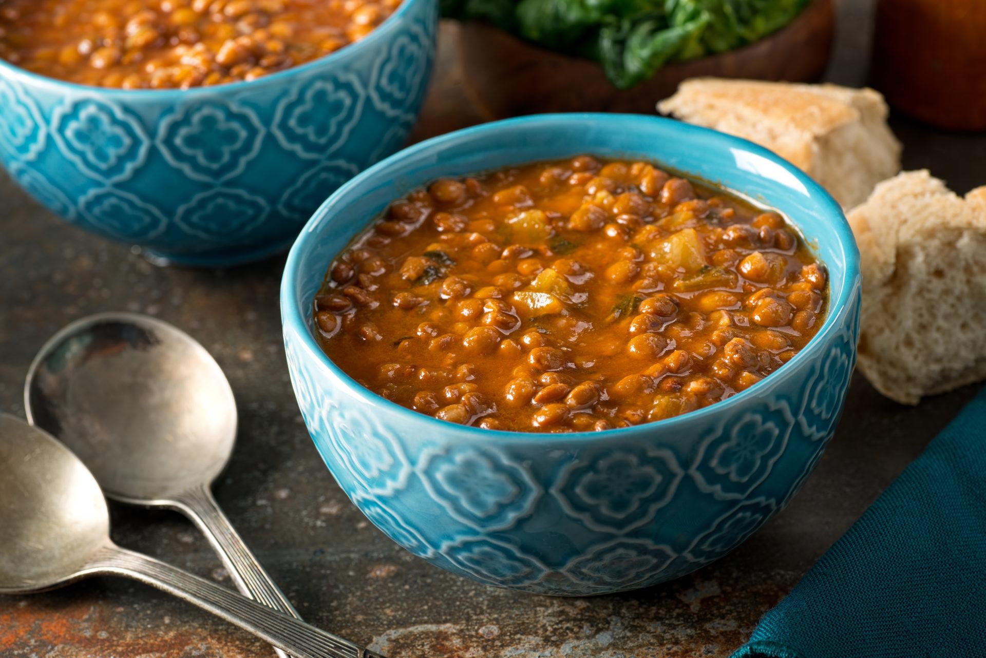Fakes, lentil soup