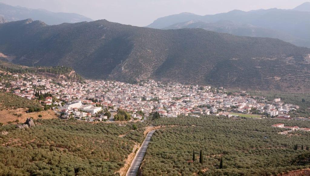 The city of Amfissa in Phocis