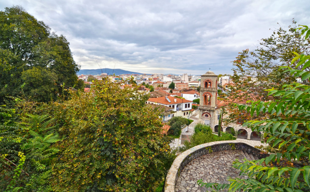 La vue sur Trikala du chateau byzantin