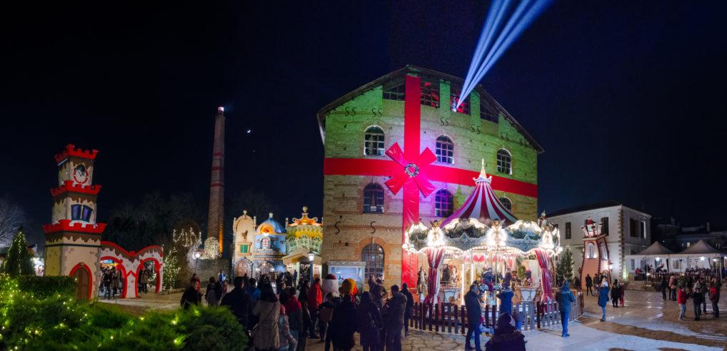 Le Milos Matsopoulou à Trikala, un bâtiment de la vie historique et culturelle pendant Noël