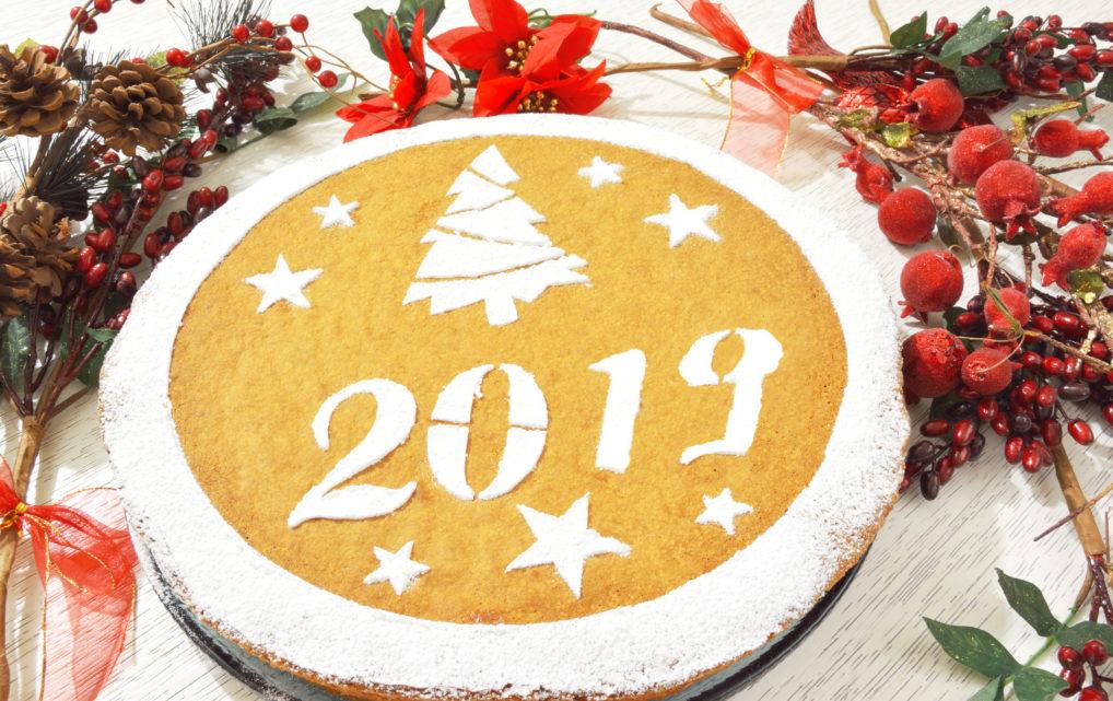 La vassilopita gâteau cake pour la fête de fin d'année en Grèce