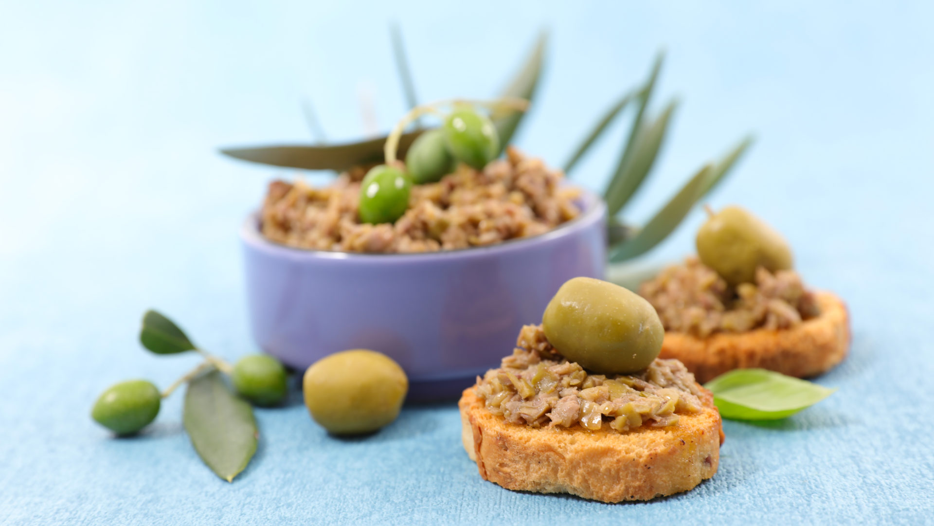 Tapenade with green olives from Chalkidiki